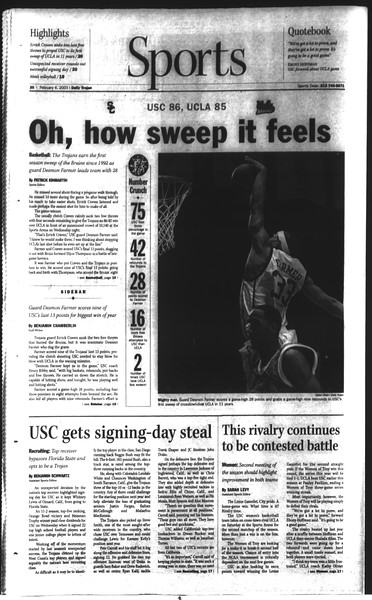 Daily Trojan, Vol. 148, No. 16, February 06, 2003