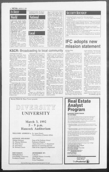 Daily Trojan, Vol. 117, No. 31, March 02, 1992