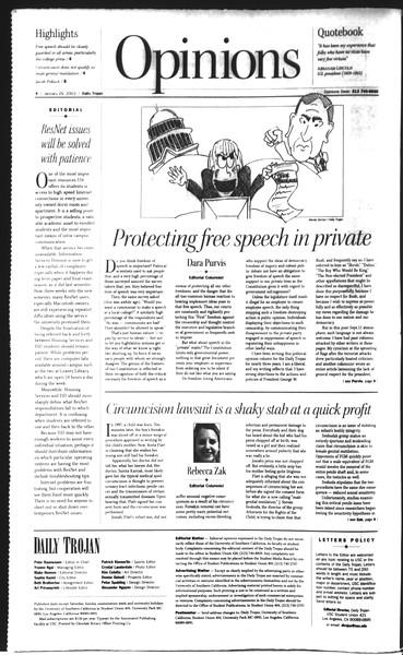 Daily Trojan, Vol. 148, No. 10, January 29, 2003