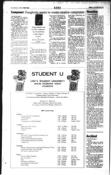 Daily Trojan, Vol. 148, No. 19, February 11, 2003