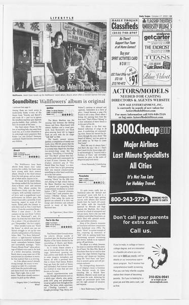 Daily Trojan, Vol. 141, No. 35, October 17, 2000