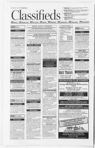 Daily Trojan, Vol. 141, No. 40, October 25, 2000