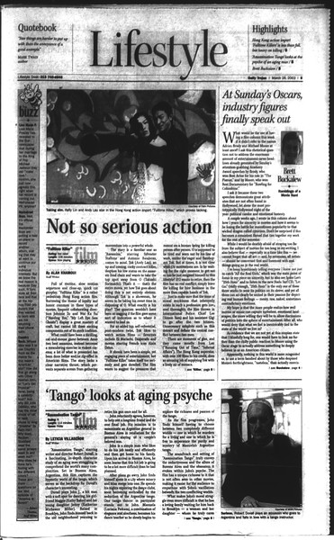 Daily Trojan, Vol. 148, No. 43, March 28, 2003