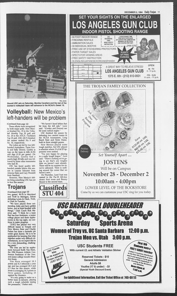 Daily Trojan, Vol. 123, No. 62, December 02, 1994