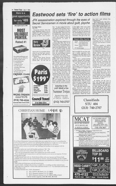 Summer Trojan, Vol. 120, No. 9, July 07, 1993