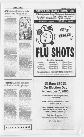 Daily Trojan, Vol. 141, No. 43, October 30, 2000