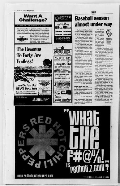 Daily Trojan, Vol. 139, No. 12, January 28, 2000
