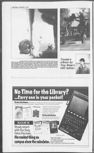 Daily Trojan, Vol. 121, No. 54, November 16, 1993