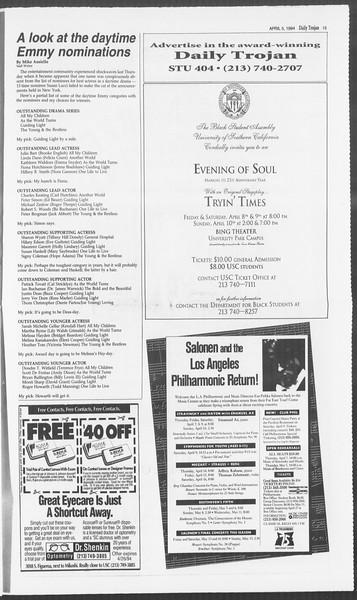 Daily Trojan, Vol. 122, No. 51, April 05, 1994