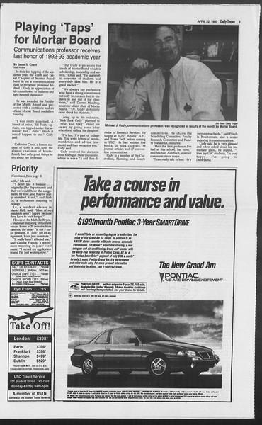 Daily Trojan, Vol. 119, No. 63, April 22, 1993