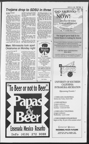 Daily Trojan, Vol. 119, No. 48, March 24, 1993