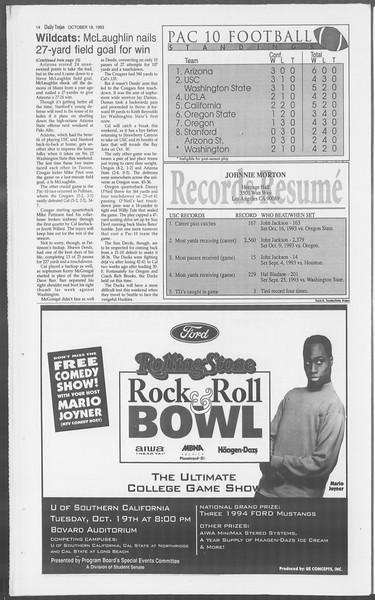 Daily Trojan, Vol. 121, No. 35, October 19, 1993