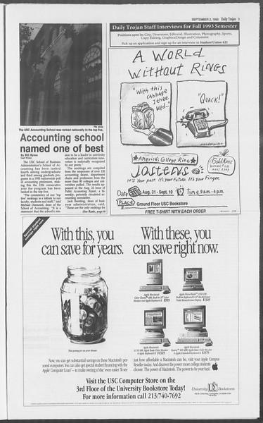 Daily Trojan, Vol. 121, No. 4, September 02, 1993