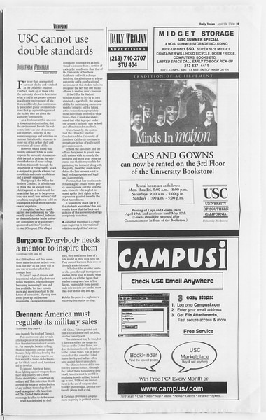 Daily Trojan, Vol. 139, No. 61, April 19, 2000