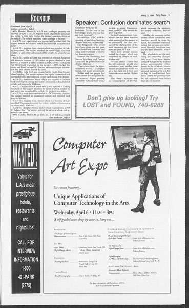 Daily Trojan, Vol. 122, No. 51, April 05, 1994