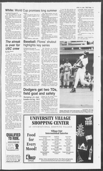 Daily Trojan, Vol. 122, No. 60, April 18, 1994