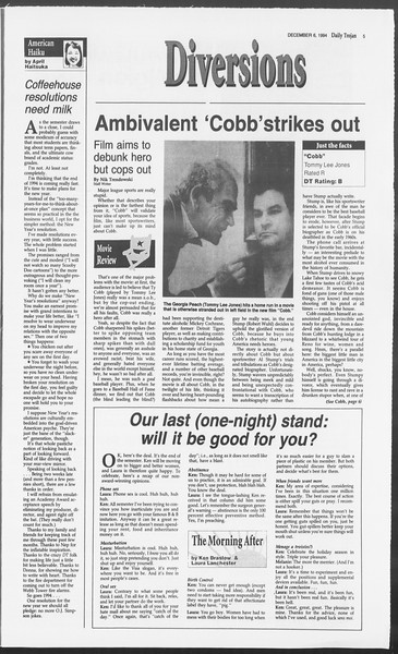 Daily Trojan, Vol. 123, No. 64, December 06, 1994