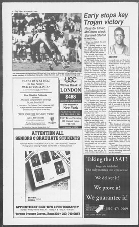 Daily Trojan, Vol. 121, No. 48, November 08, 1993