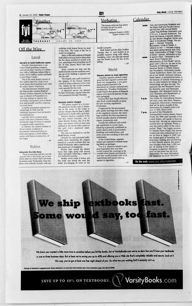 Daily Trojan, Vol. 139, No. 6, January 20, 2000
