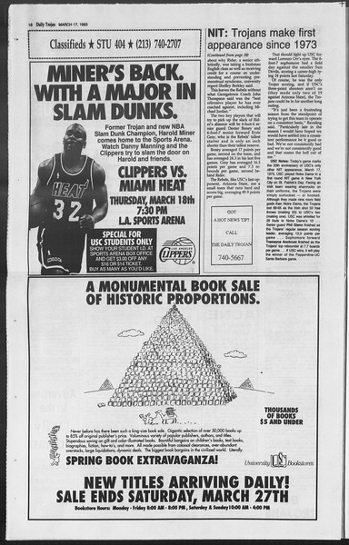 Daily Trojan, Vol. 119, No. 43, March 17, 1993