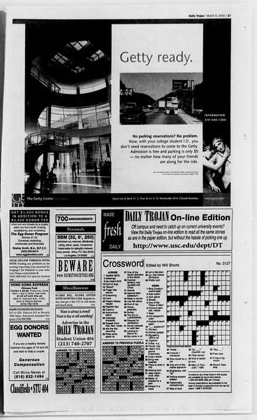 Daily Trojan, Vol. 139, No. 39, March 09, 2000