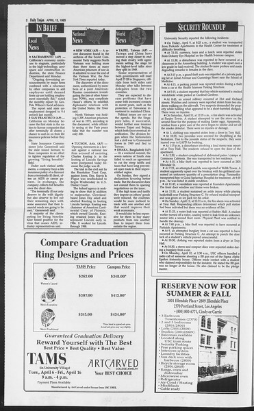 Daily Trojan, Vol. 119, No. 56, April 13, 1993
