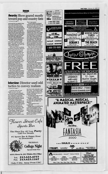 Daily Trojan, Vol. 139, No. 30, February 25, 2000