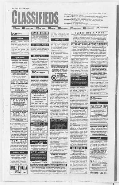 Daily Trojan, Vol. 139, No. 51, April 05, 2000