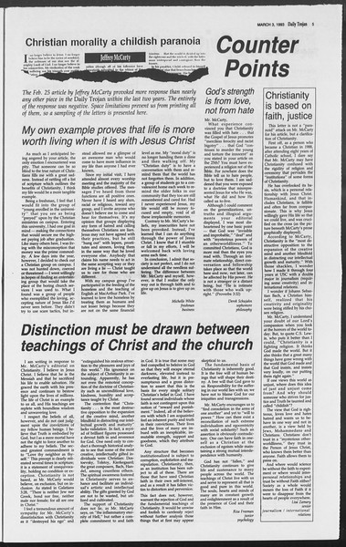 Daily Trojan, Vol. 119, No. 33, March 03, 1993