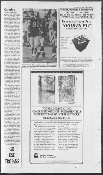 Daily Trojan, Vol. 123, No. 38, October 26, 1994