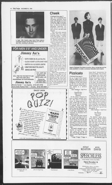 Daily Trojan, Vol. 123, No. 66, December 08, 1994
