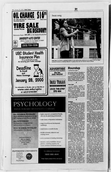 Daily Trojan, Vol. 139, No. 9, January 25, 2000