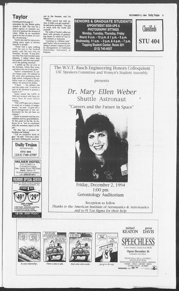 Daily Trojan, Vol. 123, No. 62, December 02, 1994