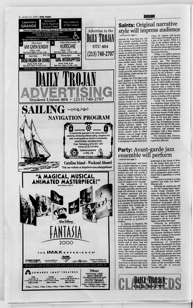 Daily Trojan, Vol. 139, No. 7, January 21, 2000