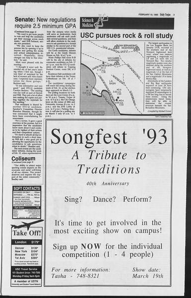 Daily Trojan, Vol. 119, No. 20, February 10, 1993