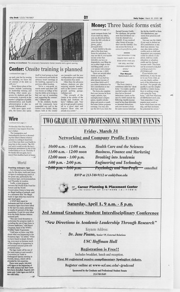 Daily Trojan, Vol. 139, No. 47, March 30, 2000