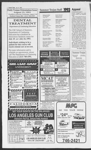 Summer Trojan, Vol. 120, No. 10, July 14, 1993