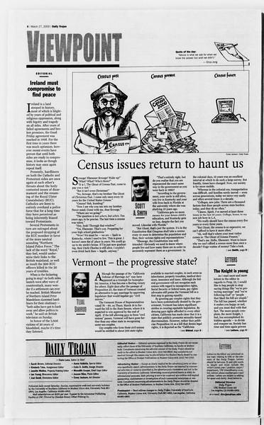 Daily Trojan, Vol. 139, No. 44, March 27, 2000