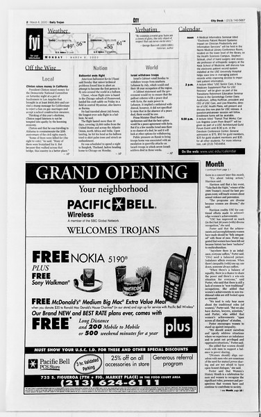 Daily Trojan, Vol. 139, No. 36, March 06, 2000
