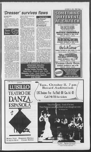 Daily Trojan, Vol. 123, No. 27, October 10, 1994