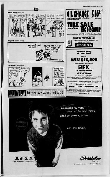 Daily Trojan, Vol. 139, No. 11, January 27, 2000