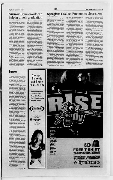 Daily Trojan, Vol. 139, No. 44, March 27, 2000