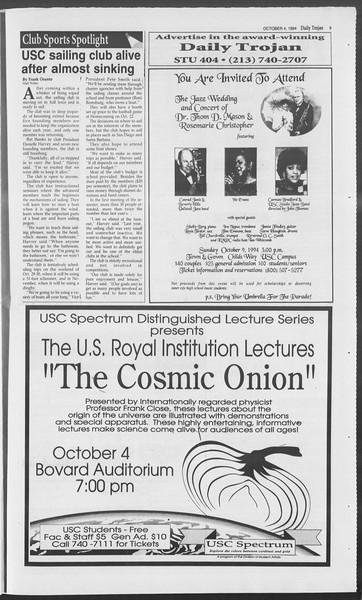 Daily Trojan, Vol. 123, No. 23, October 04, 1994