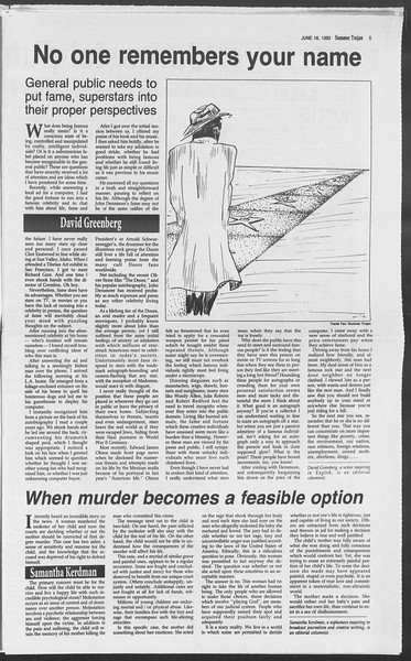 Summer Trojan, Vol. 120, No. 6, June 16, 1993