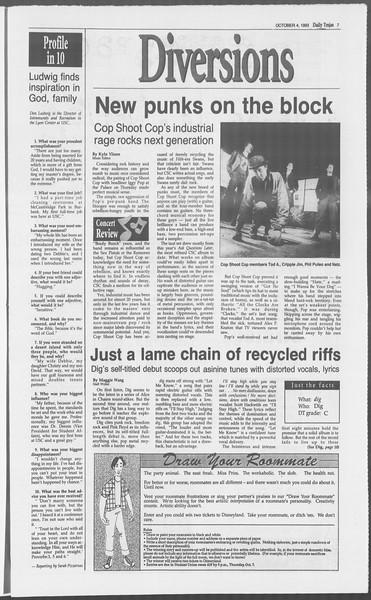 Daily Trojan, Vol. 121, No. 24, October 04, 1993