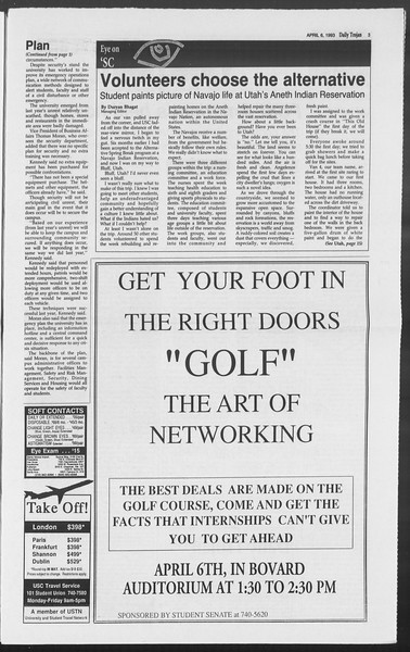 Daily Trojan, Vol. 119, No. 51, April 06, 1993