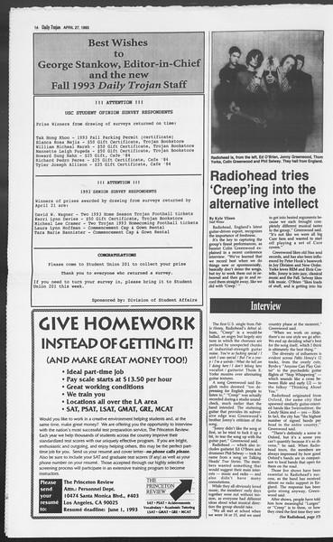 Daily Trojan, Vol. 119, No. 66, April 27, 1993