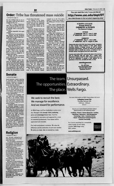 Daily Trojan, Vol. 139, No. 19, February 08, 2000