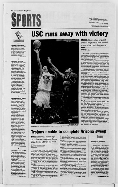 Daily Trojan, Vol. 139, No. 27, February 18, 2000