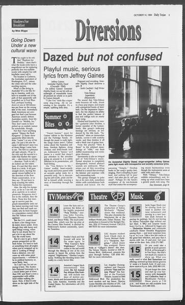 Daily Trojan, Vol. 123, No. 31, October 14, 1994